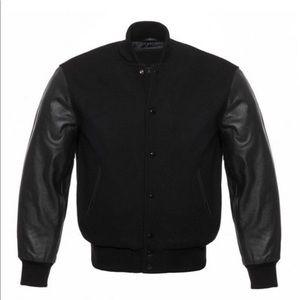 Other - Genuine leather varsity jacket letterman baseball
